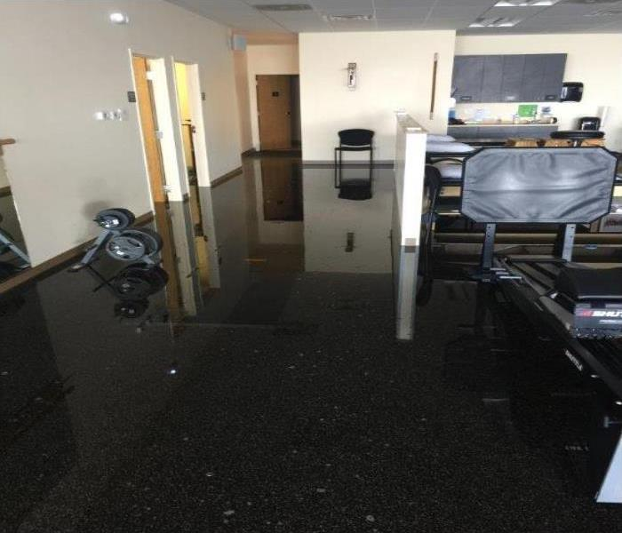 Pipe Burst Causing Water Damage In Michigan City Business Before