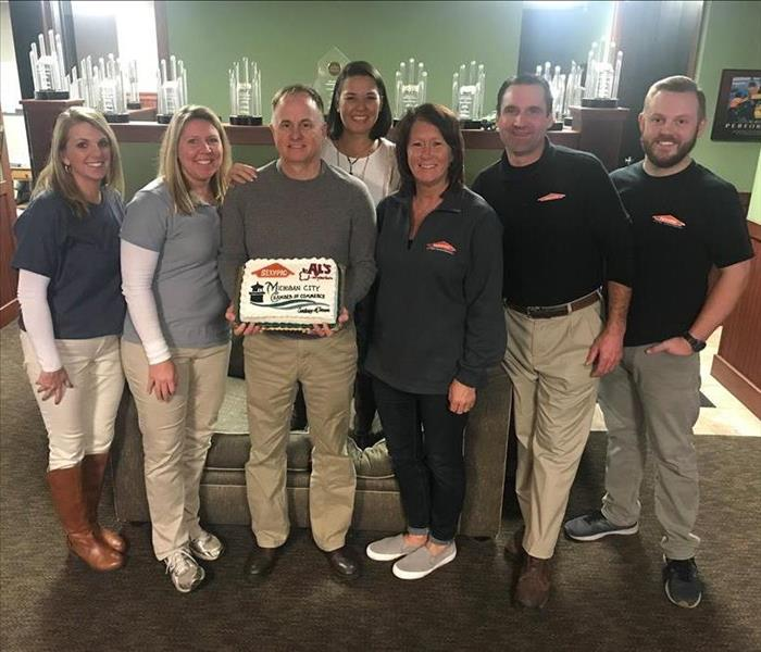 SERVPRO of La Porte County Award from the Michigan City Chamber of Commerce